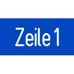 Musterbild-Schilder Typ 111.011 - 100x25 mm