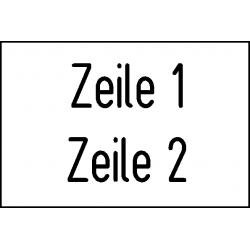 Musterbild-Schilder Typ 111.012 - 100x25 mm